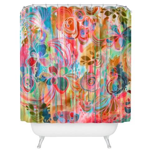 Stephanie Corfee Free Spirit Shower Curtain Orange