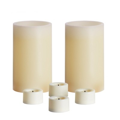 6pc Vanilla Scented LED Candle Set Cream - Made By Design™
