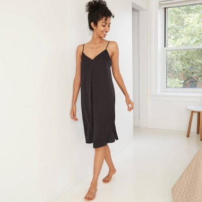 Women's Satin Nightgown - Stars Above™ Black XL
