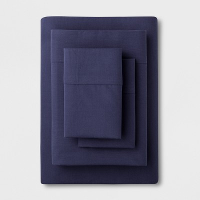 Solid Easy Care Sheet Set (King)Navy - Made By Design™