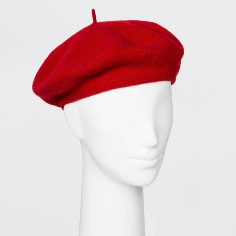 Women's Felt Beret - Wild Fable™ Red One Size - image 1 of 1