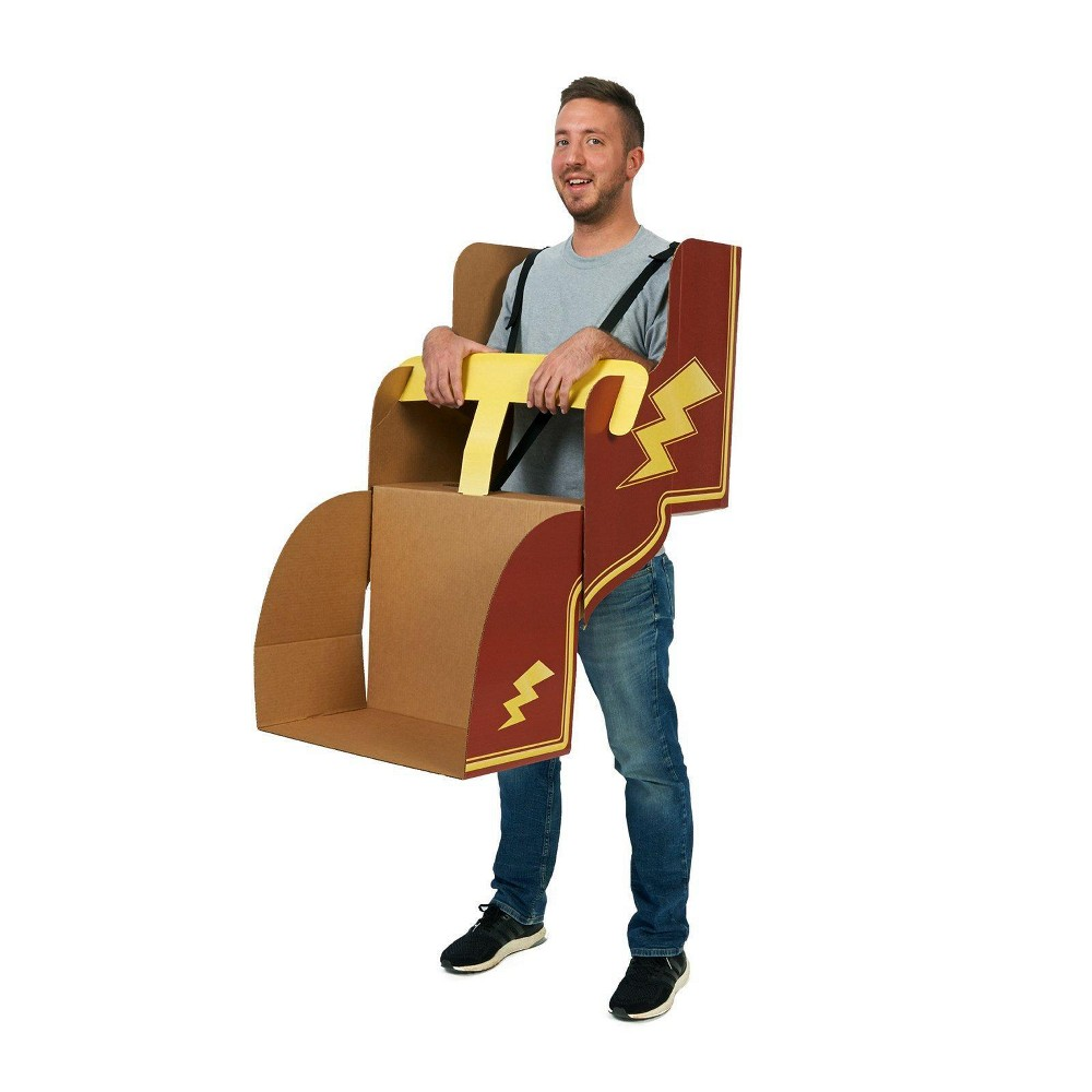 Image of Adult Roller Coaster Diy Cardboard Costume, Multi-Colored