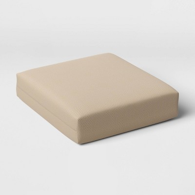 Woven Outdoor Deep Seat Cushion DuraSeason Fabric™ Tan - Threshold™