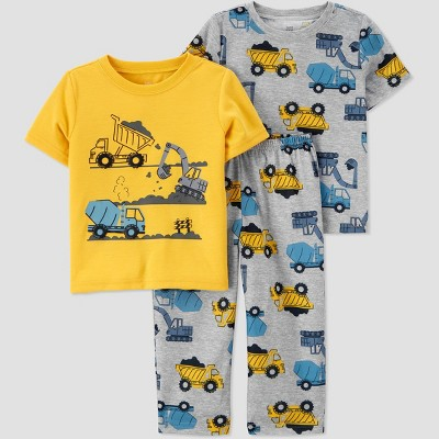 Toddler Boys' 3pc Construction Pajama Set - Just One You® made by carter's
