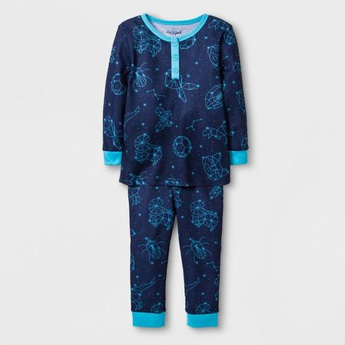 5b3a1c132 Baby Boys  Constellation Thermal Pajama Set - Cat   Jack™ Blue 18M ...