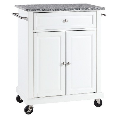 Solid Granite Top Portable Kitchen Cart/Island - Crosley