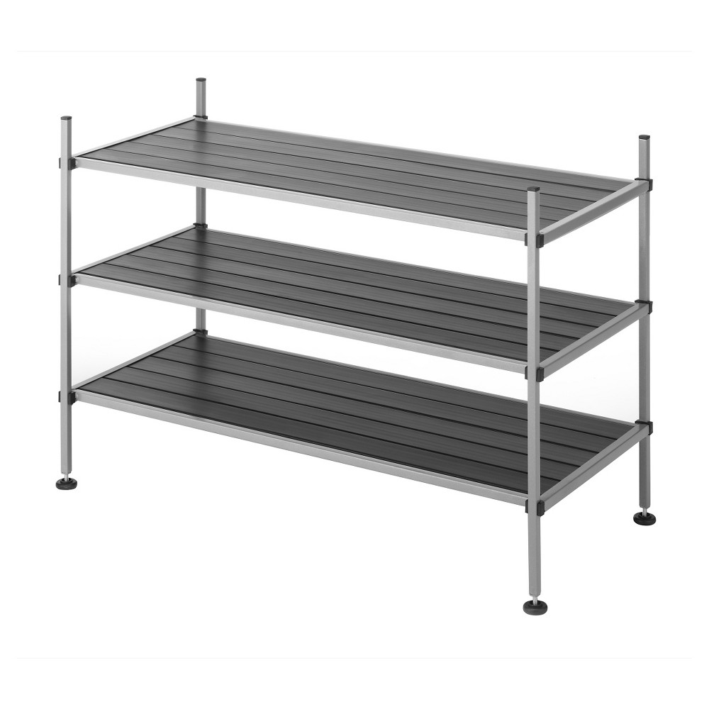 Whitmor 3 Tier Storage Shelves - Gray