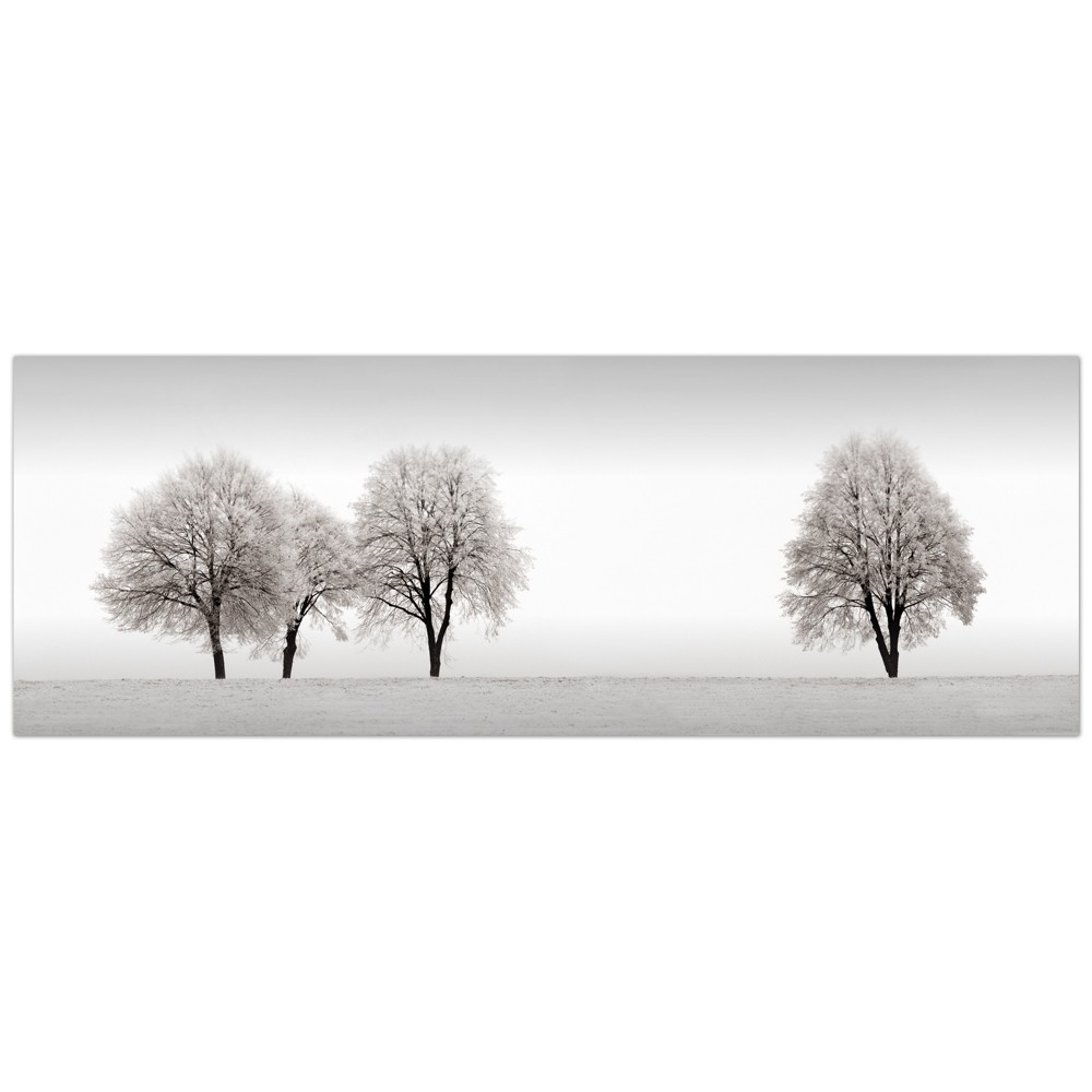 "Image of ""16""""x48"""" Treeline By Ilona Wellman Art On Canvas Black - Fine Art Canvas"""