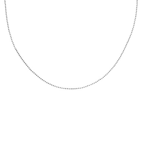 "Women's Shot Bead Chain Necklace in Sterling Silver (20"") - image 1 of 1"