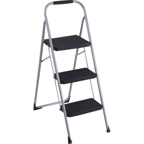 Cosco Three Step Big Step Folding Step Stool with Rubber Hand Grip - image 1 of 1