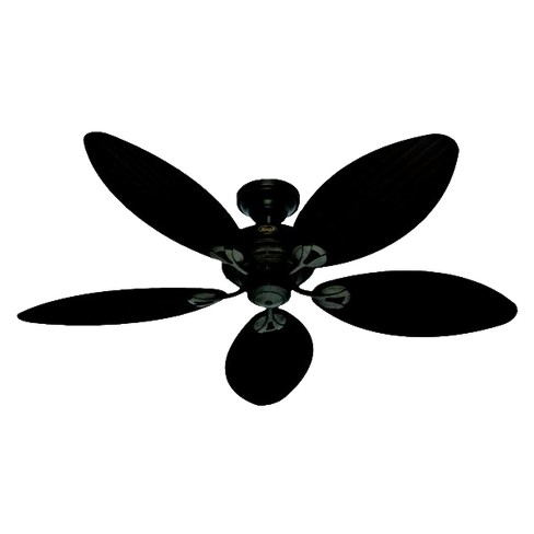 54 Bayview Outdoor Ceiling Fan Black Hunter