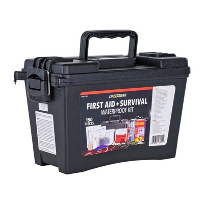 Life+Gear 150pc First Aid Survival Kit in Waterproof Case