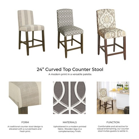 Enjoyable 24 Curved Top Counter Stool Natural Raffia Homepop Uwap Interior Chair Design Uwaporg