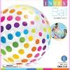 Intex Jumbo Inflatable Glossy Big Polka-Dot Colorful Giant Beach Ball | 59065EP - image 3 of 4