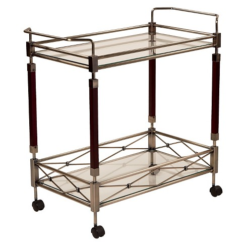 Melrose Serving Cart Antique Brass - OSP Home Furnishings - image 1 of 3