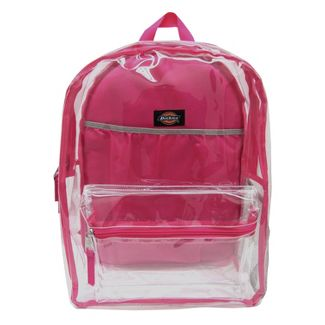 Dickies 17u0022 Clear Student Backpack - Clear/Pink