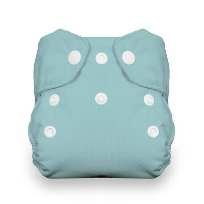 Thirsties Snap Natural Newborn All In One Reusable Diaper Cover - Aqua