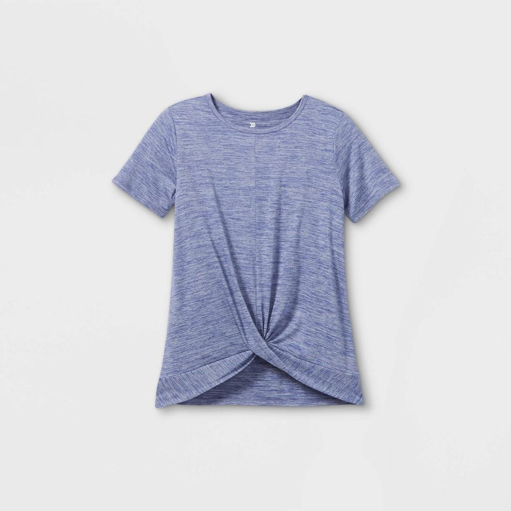 Girls 39 Short Sleeve Studio T Shirt All In Motion 8482 Grape Xs