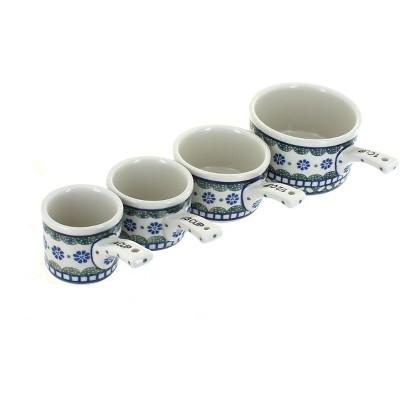 Blue Rose Polish Pottery Maia Measuring Cup Set