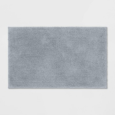 Perfectly Soft Solid Bath Mat Jet Gray - Opalhouse™