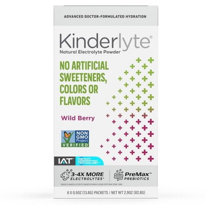 Kinderlyte Natural Electrolyte Powder - Wild Berry - 6ct/0.5oz Each