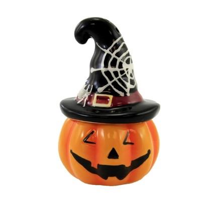"Tabletop 2.5"" Halloween Salt & Pepper Set Pumpkin Jack-O-Lantern Ganz  -  Salt And Pepper Shaker Sets"