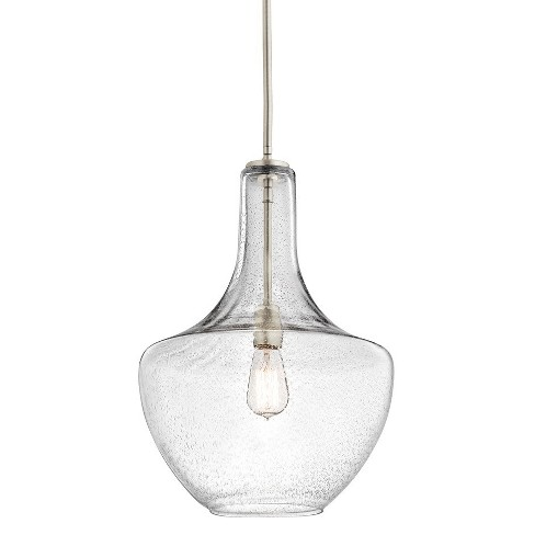 """Kichler 42046CS Everly 14"""" Wide Pendant with Seedy Glass Shade - image 1 of 4"""