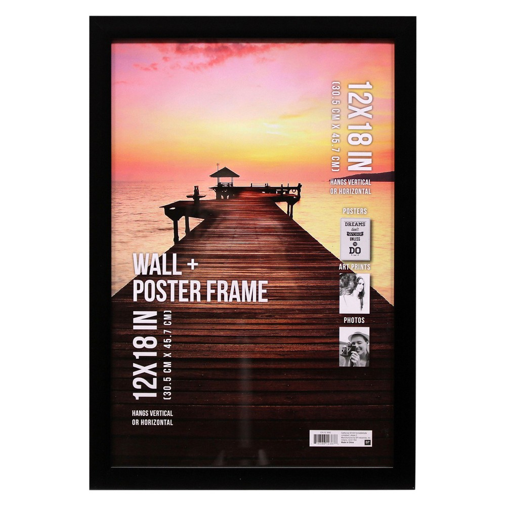 "Image of ""Poster Frame 1 Profile - Black - (12""""x18"""")"""
