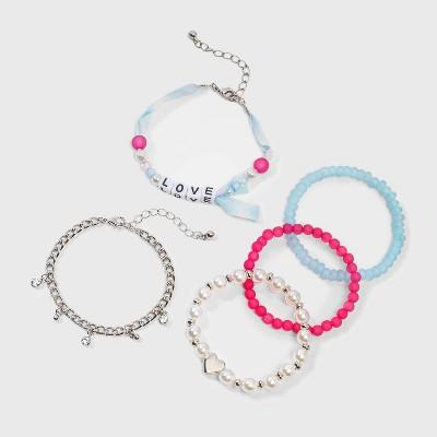 Girls' 5pk Love Beaded Bracelet Set - Cat & Jack™