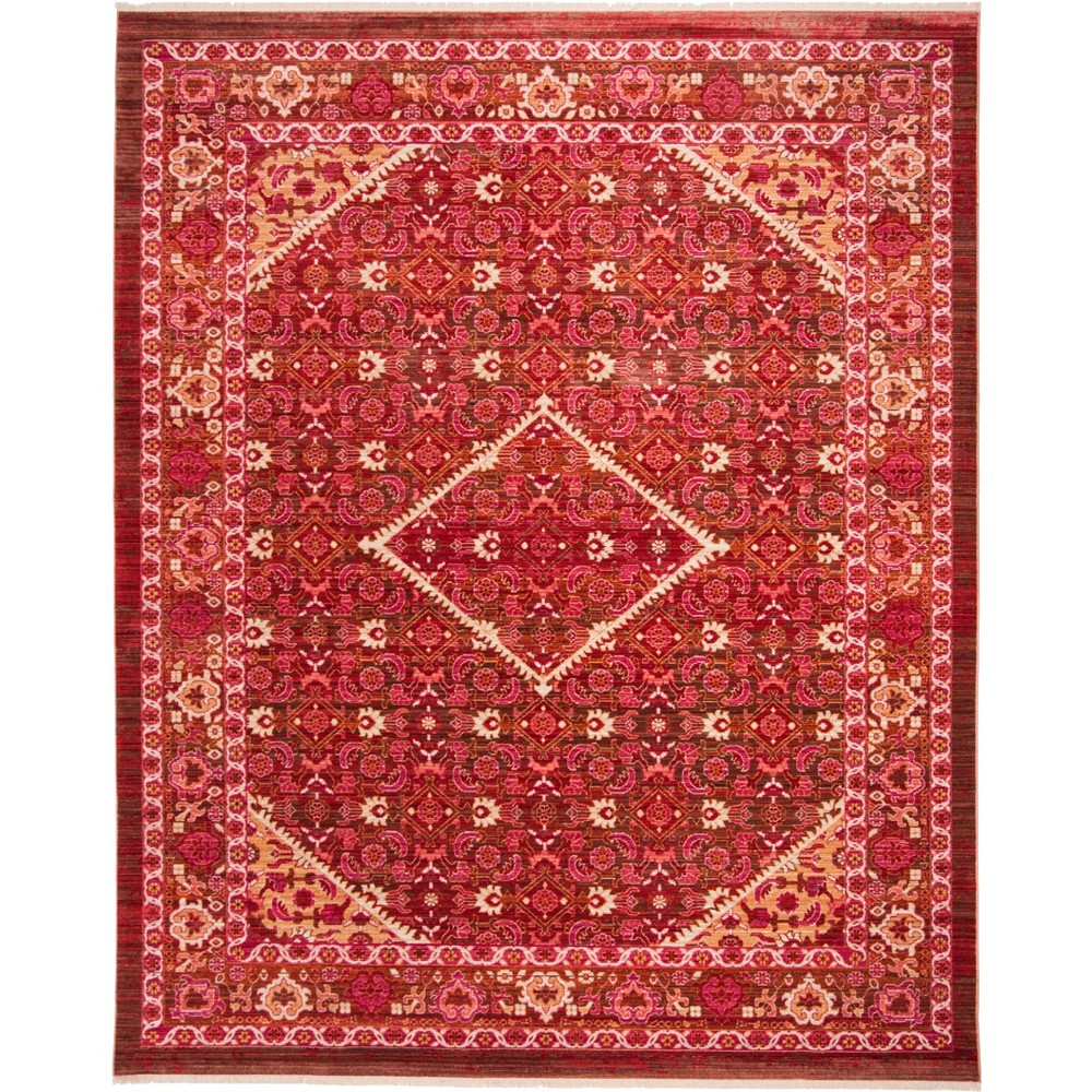 8'X10' Medallion Loomed Area Rug Rust (Red) - Safavieh