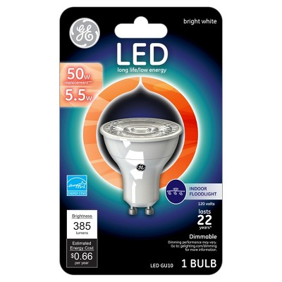 GE LED 50-Watt GU10 Light Bulb - Soft White