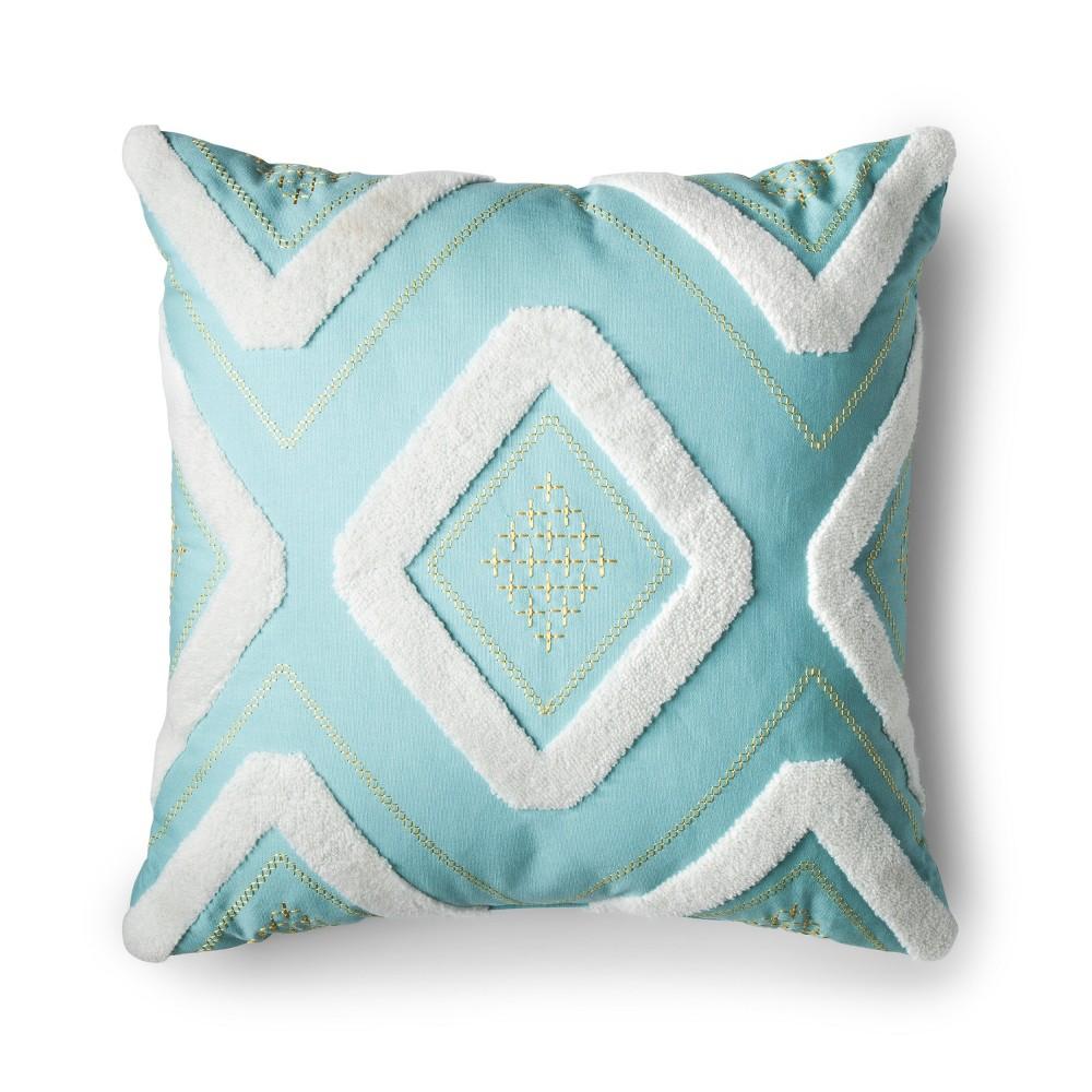 Blue Ekat Square Throw Pillow - No Coast
