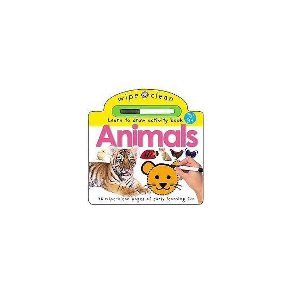 Animals : Learn to draw activity book (Hardcover)