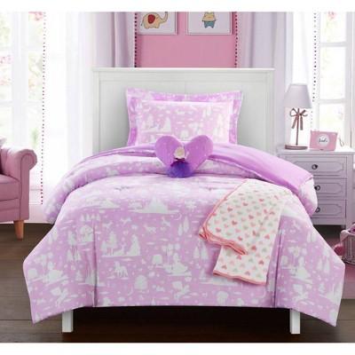 4pc Twin Comforter Set Lavender - Chic Home Design