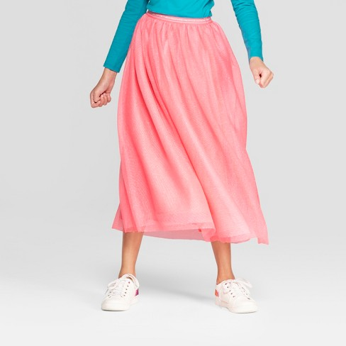 S Tulle Maxi Skirt Cat Jack Pink