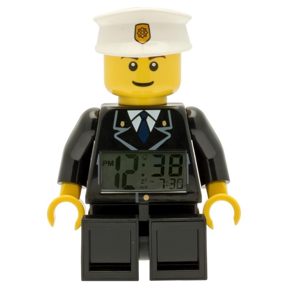 Image of Lego City Policeman Moveable Minifigure Clock, Black