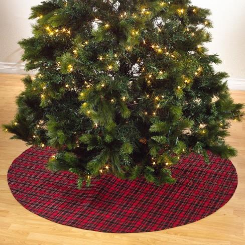 Saro Lifestyle Plaid Christmas Tree Skirt - image 1 of 3