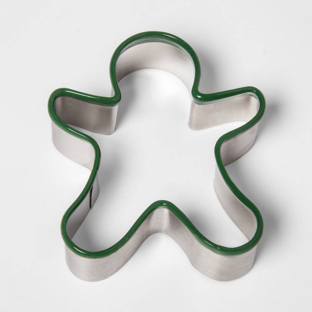 Image of Stainless Steel Holiday Gingerbread Man Cookie Cutter - Threshold