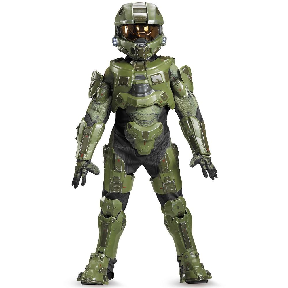Image of Halloween Kids' Halo Master Chief Ultra Prestige Halloween Costume L, Men's, Size: Large, MultiColored