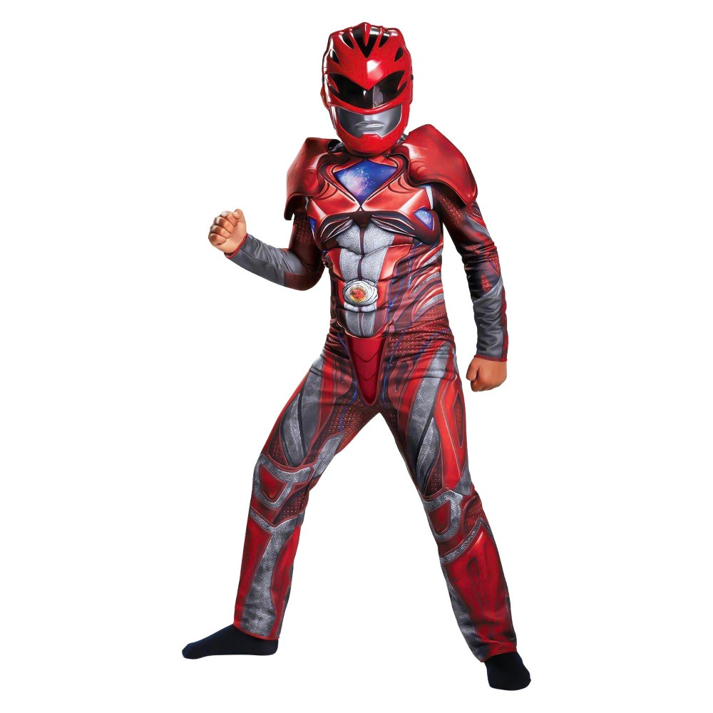 Kids' Power Rangers Movie Red Ranger Classic Muscle Costume Kit-Large, Boy's, Size: Large, Multicolored