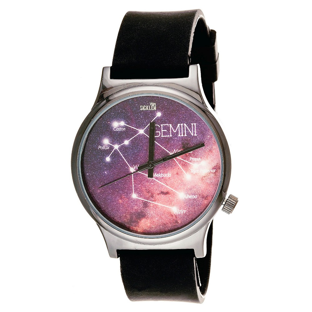 Image of Men's Van Sicklen Gemini Constellation Analog Wristwatch - Purple, Men's, Size: Small