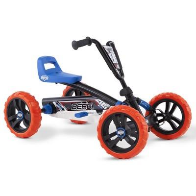 Berg Buzzy Nitro Toddler Adjustable Compact Pedal Powered Safe Go Kart, Blue