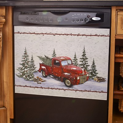 Lakeside Vintage Country Red Pick Up Truck Dishwasher Magnet - Home Kitchen Decoration