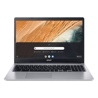 "Acer 15.6"" Chromebook Laptop, 32GB Storage, Full HD Display 1920 x 1080 Resolution, Intel Processor, Silver (CB315-3HT-C16B)"