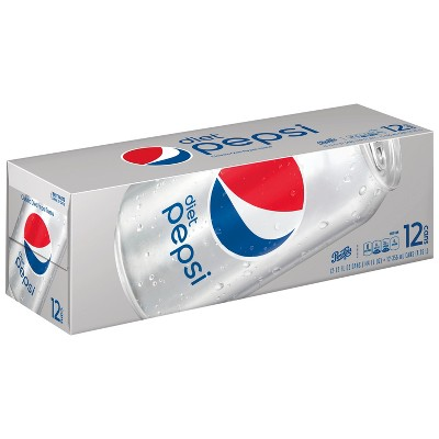 Diet Pepsi Cola Soda - 12pk/12 fl oz Cans