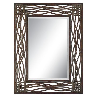 Rectangle Dorigrass Metal Decorative Wall Mirror Brown - Uttermost