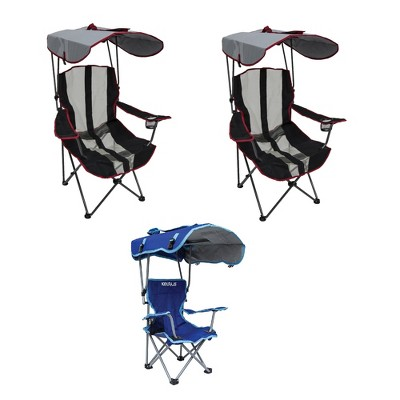Kelsyus Canopy Chair w/ Cup Holder (2 Pack) and Kids Canopy Chair w/ Cup Holder