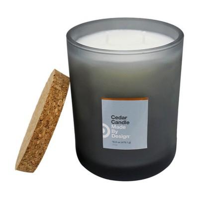 16.9oz Lidded Jar 2-Wick Candle Cedar - Made By Design™