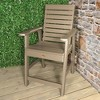 Weatherly Counter Patio Armchair Tuscan Taupe - Highwood - image 2 of 3