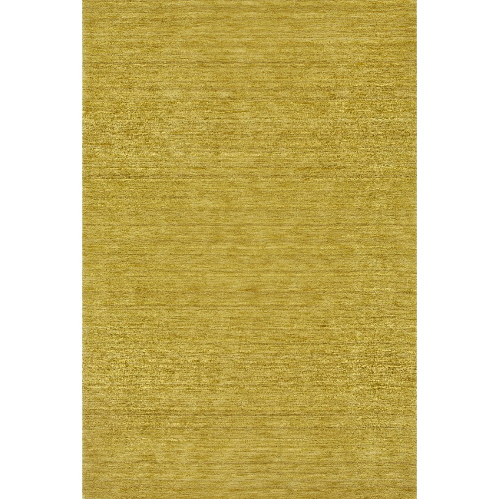 Tonal Solid 100% Wool Area Rug - Kiwi (Green) (5'x7'6)